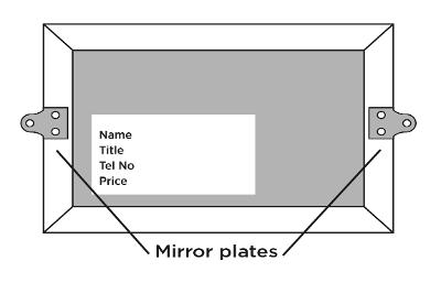 Mirror plates and how you need to present your artwork