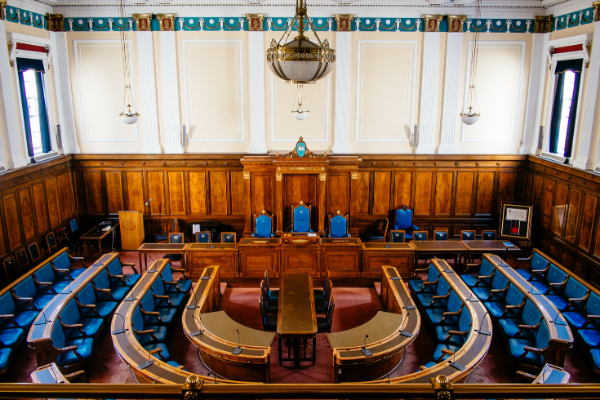 Council Chamber at Preston Town Hall