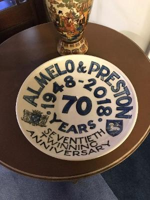 Town Twinning plate from Almelo