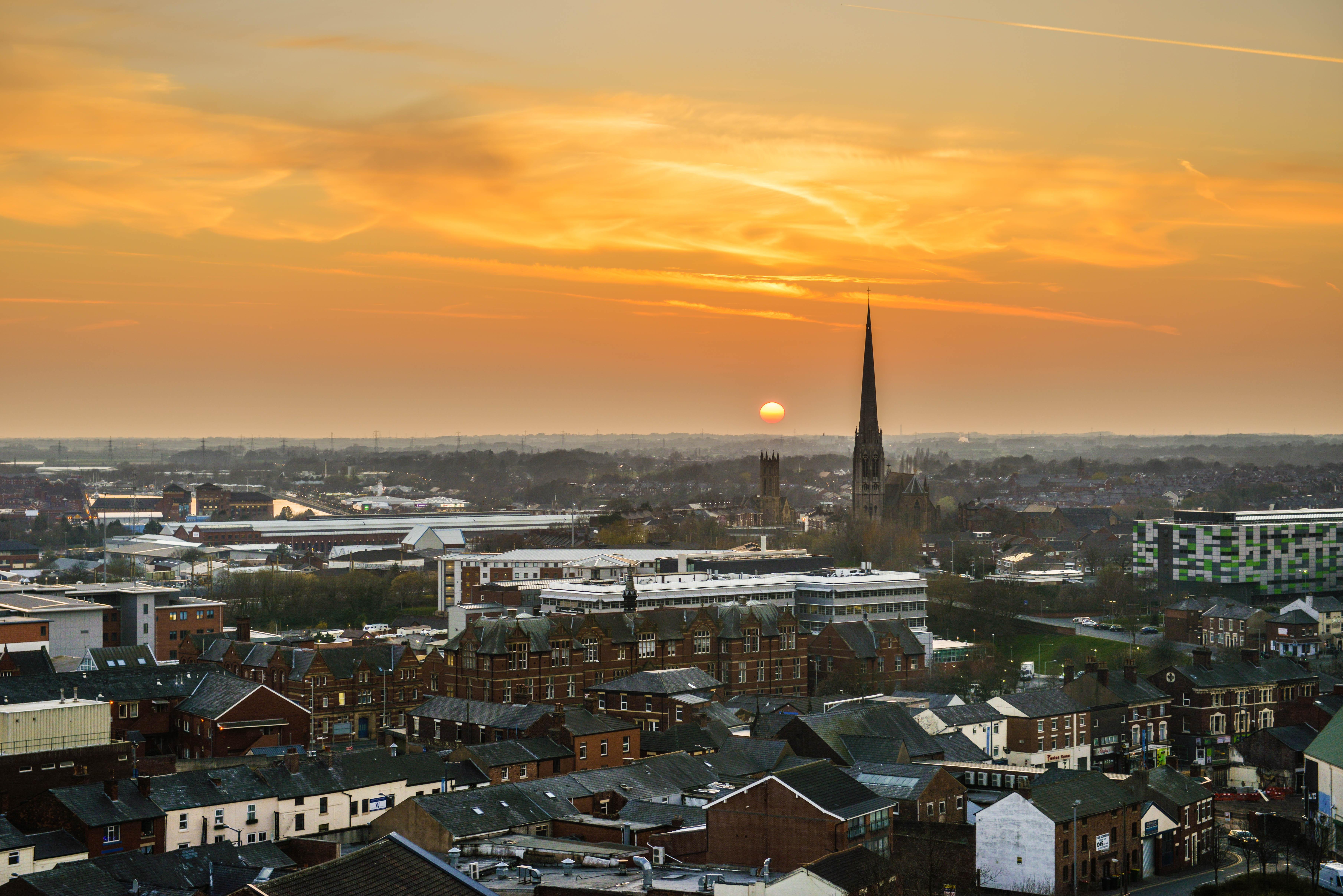 Preston city skyline