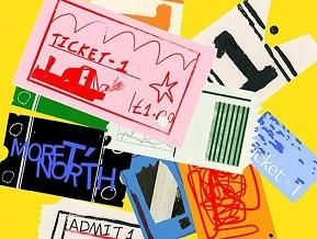 Arty illustration of paper tickets