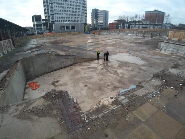 Old Indoor Market cleared site